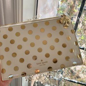 Kate spade New York small bag pencil pouch polka